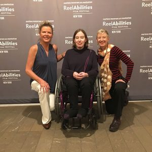 Photos of Julie, Nikki and Jen at ReelAbilities Film Festival